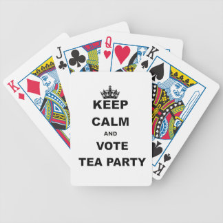 KEEP CALM AND VOTE TEA PARTY BICYCLE PLAYING CARDS