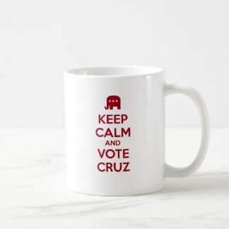 Keep Calm and Vote Ted Cruz Coffee Mugs