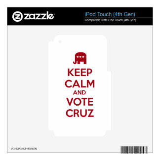 Keep Calm and Vote Ted Cruz iPod Touch 4G Skin