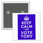 Keep Calm And Vote Tory ~ Political U.K 2 Inch Square Button