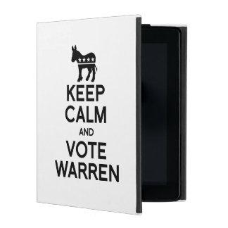 KEEP CALM AND VOTE WARREN iPad CASES