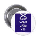 Keep calm and vote yes button