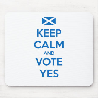 Keep Calm and Vote Yes to the Scottish Referendum Mouse Pad