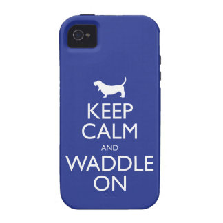 Keep Calm and Waddle on Case For The iPhone 4