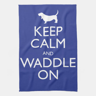 Keep Calm and Waddle on Hand Towel