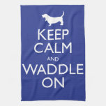 Keep Calm and Waddle on Towel