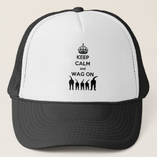 KEEP CALM and WAG ON Trucker Hat