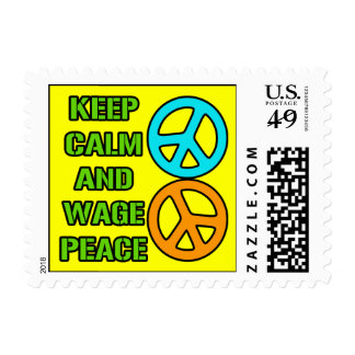 Keep Calm and Wage Peace Stamp