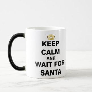 Keep Calm and Wait For Santa Magic Mug