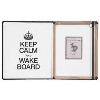 KEEP CALM AND WAKEBOARD COVERS FOR iPad