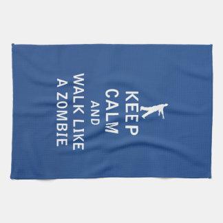 Keep Calm and Walk Like A Zombie Kitchen Towel