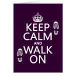 Keep Calm and Walk On (any background color) Cards