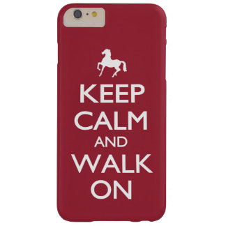 Keep Calm and Walk On Barely There iPhone 6 Plus Case