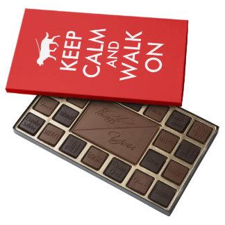 Keep Calm and Walk On Dog Walking Chocolates Box 45 Piece Assorted Chocolate Box