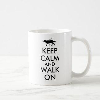 Keep Calm and Walk On Dog Walking Labrador Coffee Mug
