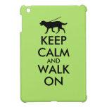 Keep Calm and Walk On Dog Walking Labrador iPad Mini Cases