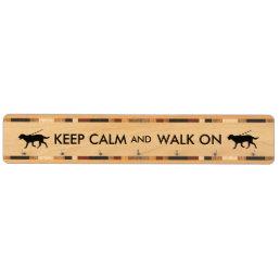 Keep Calm and Walk On Dog Walking Labrador Key Holder