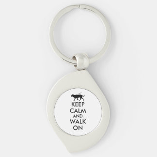 Keep Calm and Walk On Dog Walking Labrador Keychain