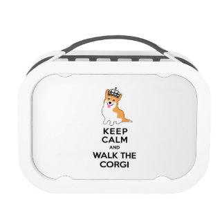 Keep Calm and Walk the Corgi Cute Dog Lunch Box