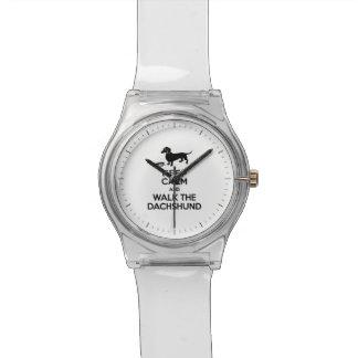 Keep Calm and Walk the Dachshund - Cute Doxie Watch