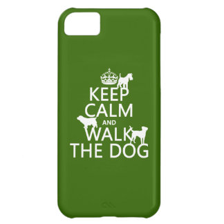 Keep Calm and Walk The Dog - all colors iPhone 5C Cover