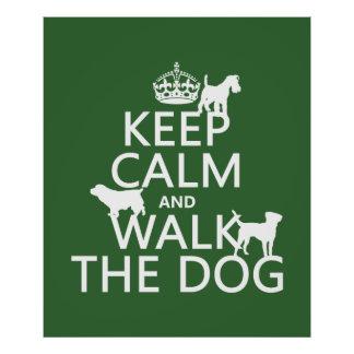 Keep Calm and Walk The Dog - all colors Poster