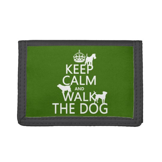 Keep Calm and Walk The Dog - all colors Tri-fold Wallet