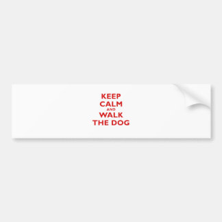 Keep Calm and Walk the Dog Car Bumper Sticker