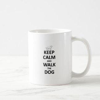 Keep Calm and walk the dog Coffee Mugs