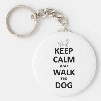 Keep Calm and walk the dog Keychain