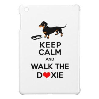 Keep Calm and Walk the Doxie!  Cute Dachshund Case For The iPad Mini