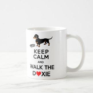 Keep Calm and Walk the Doxie - Cute Dachshund Coffee Mug