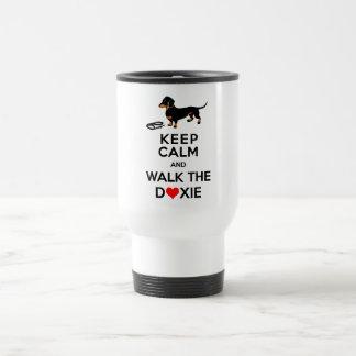 Keep Calm and Walk the Doxie - Cute Dachshund Travel Mug
