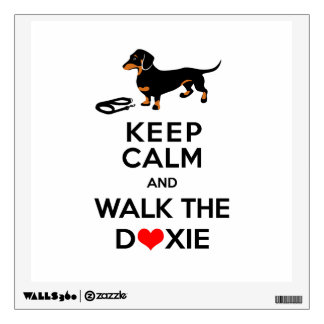 Keep Calm and Walk the Doxie - Cute Dachshund Wall Sticker