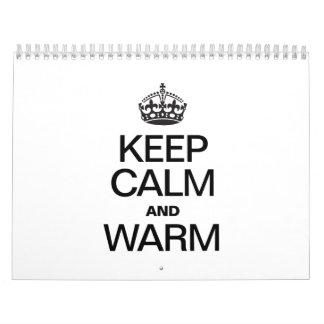 KEEP CALM AND WARM WALL CALENDARS