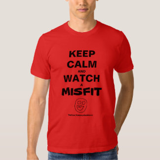 Keep Calm And Watch A Misfit._. T-Shirt RED