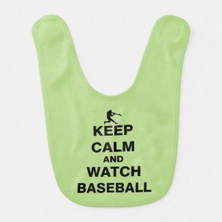 Keep Calm and Watch Baseball Baby Bib