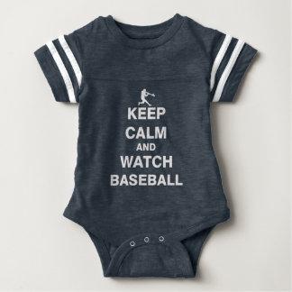 Keep Calm and Watch Baseball Baby Bodysuit