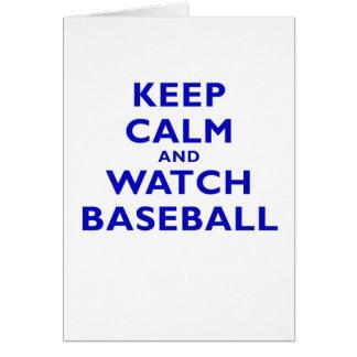 Keep Calm and Watch Baseball Card