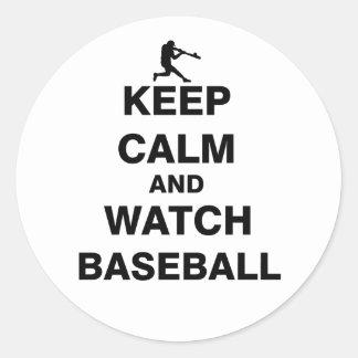 Keep Calm and Watch Baseball Classic Round Sticker