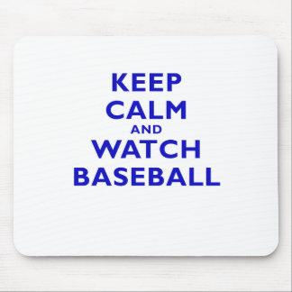 Keep Calm and Watch Baseball Mouse Pad