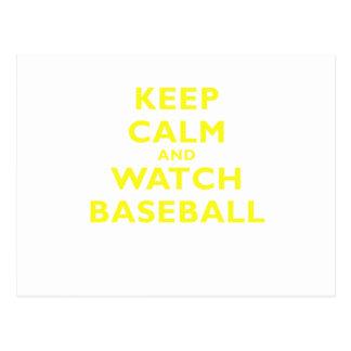 Keep Calm and Watch Baseball Postcard