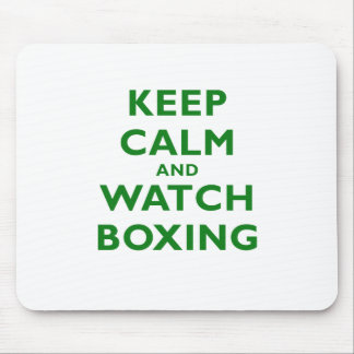 Keep Calm and Watch Boxing Mouse Pad