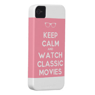 keep calm and watch classic movies iPhone 4 case