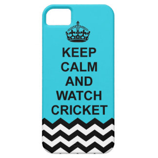 Keep calm and Watch cricket iphone case iPhone 5 Cases