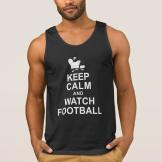 Keep Calm and Watch Football Tank Top