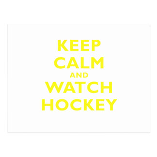 Keep Calm and Watch Hockey Postcard