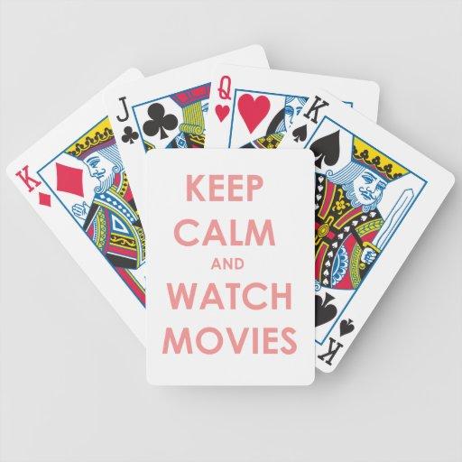 Keep calm and watch movies bicycle card decks