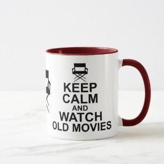 Keep Calm and Watch Old Movies Mug