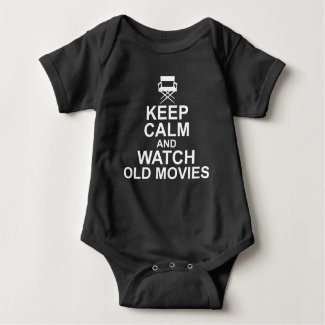 Keep Calm and Watch Old Movies Baby Jersey Bodysuit